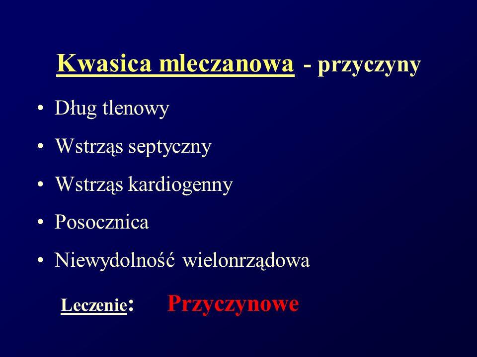 Kwasica mleczanowa - przyczyny