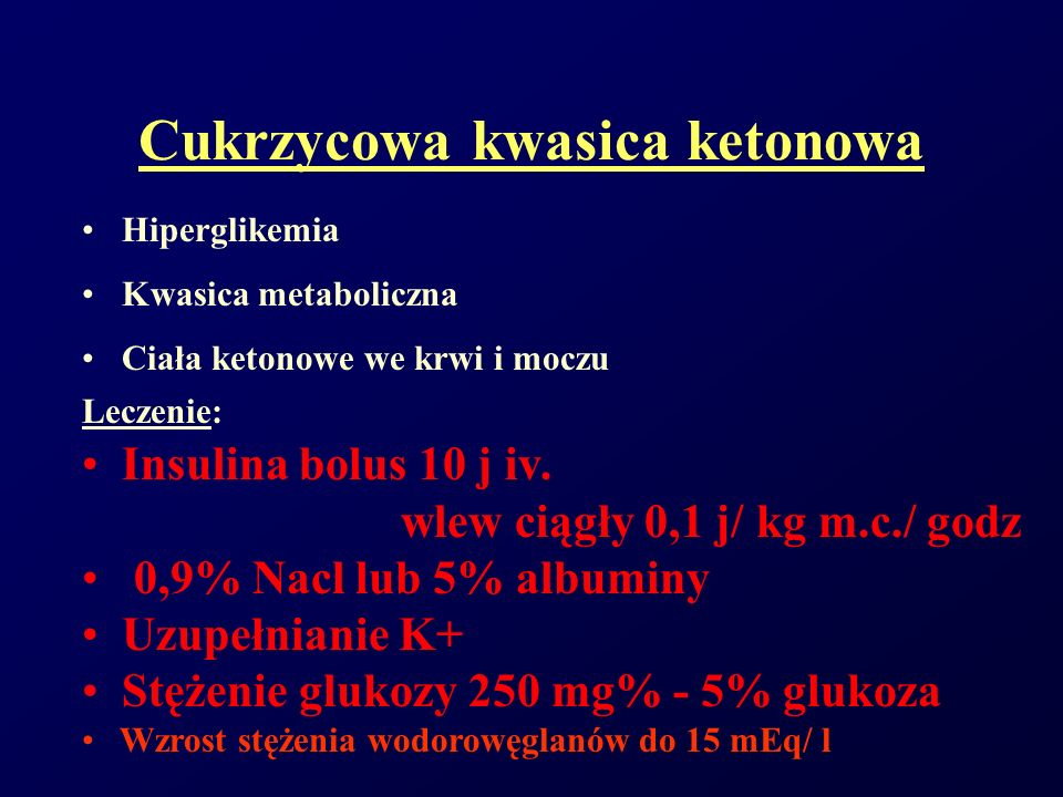Cukrzycowa kwasica ketonowa