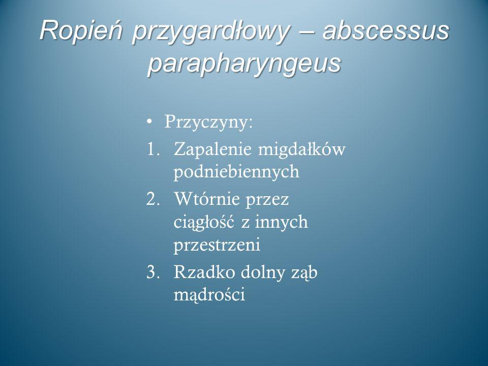 Ropień przygardłowy – abscessus parapharyngeus