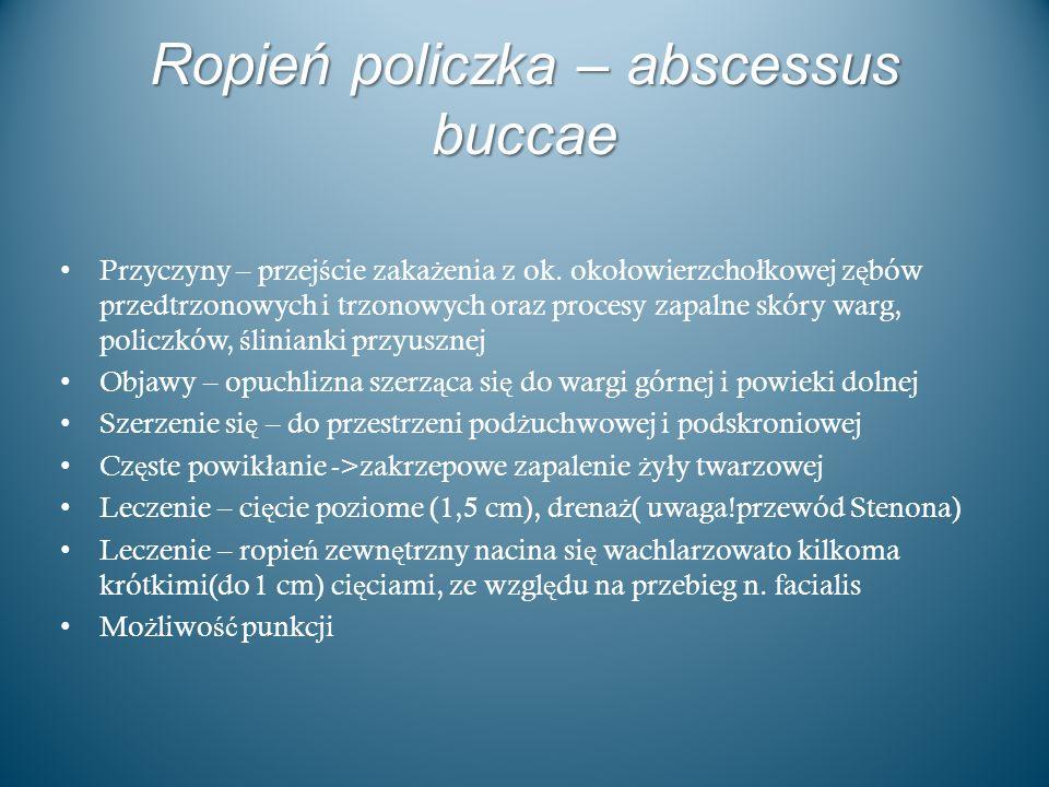 Ropień policzka – abscessus buccae