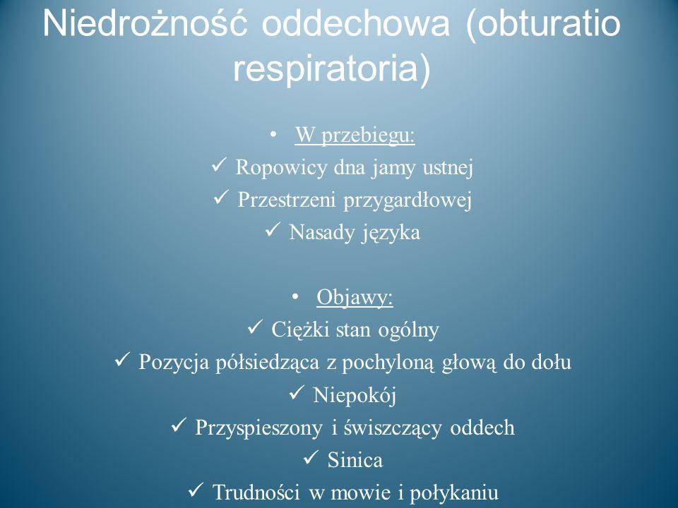 Niedrożność oddechowa (obturatio respiratoria)