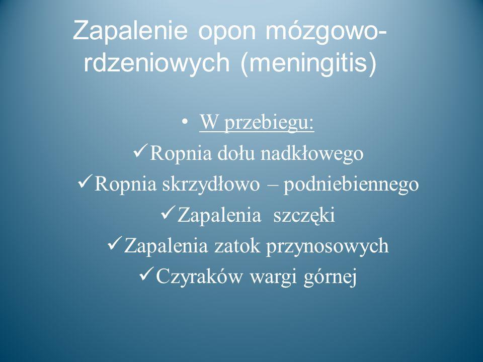 Zapalenie opon mózgowo-rdzeniowych (meningitis)