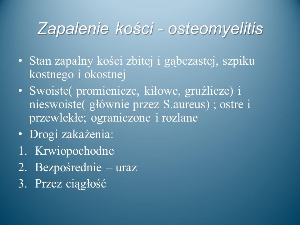 Zapalenie kości - osteomyelitis