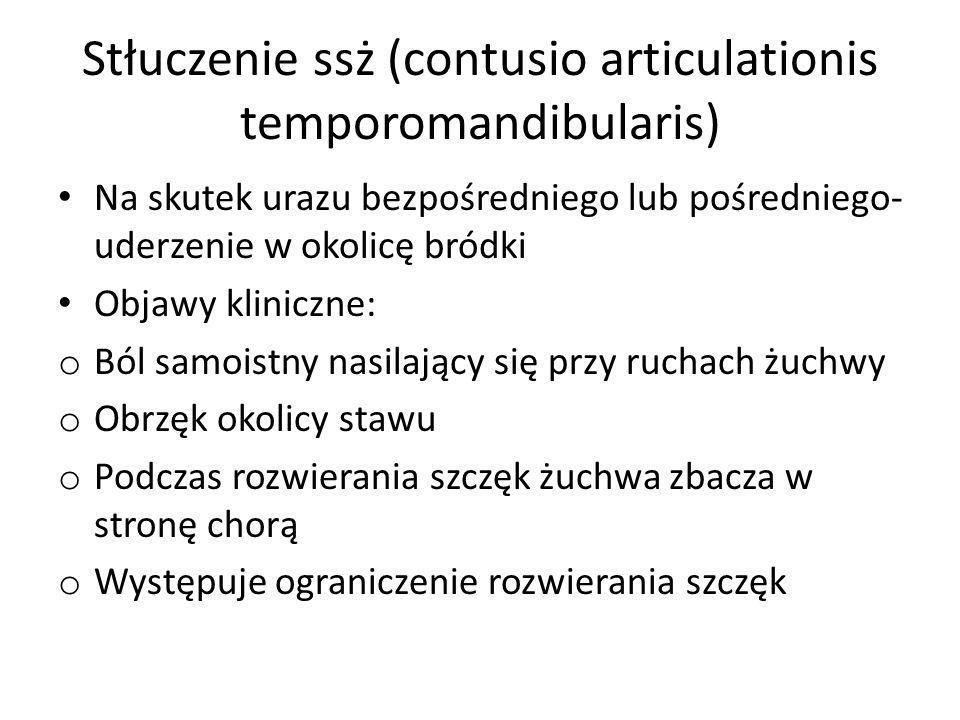 Stłuczenie ssż (contusio articulationis temporomandibularis)