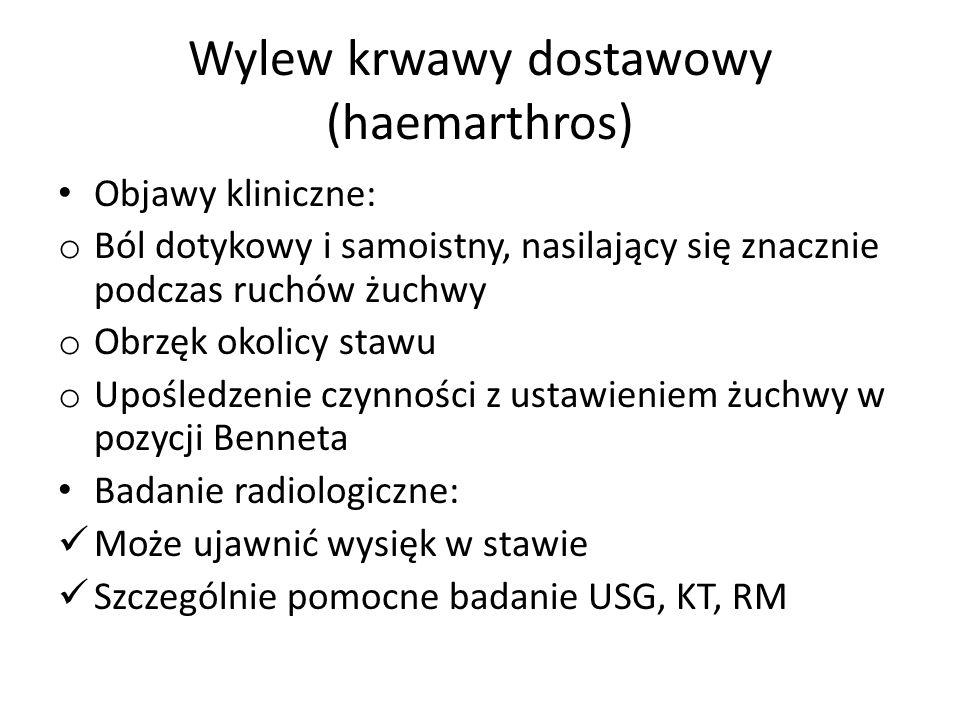 Wylew krwawy dostawowy (haemarthros)