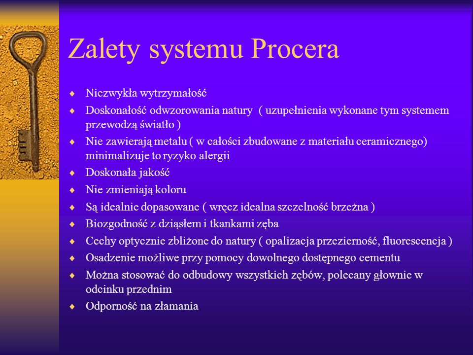 Zalety systemu Procera