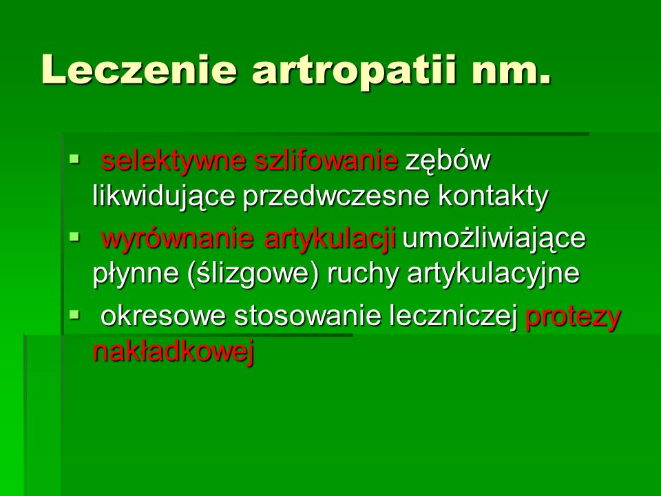 Leczenie artropatii nm.