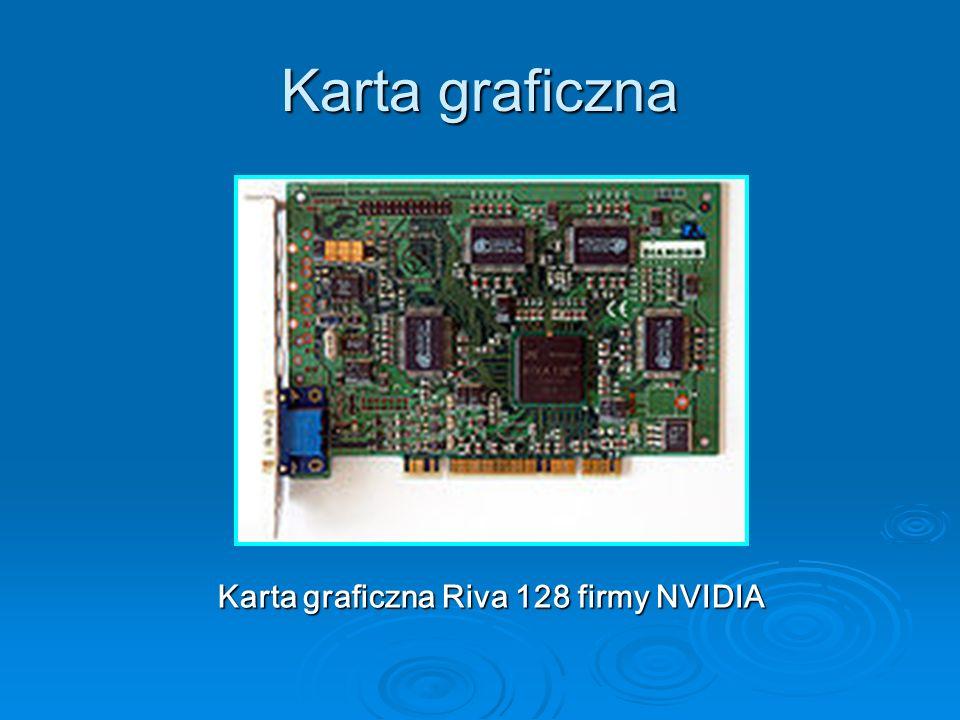 Karta graficzna Karta graficzna Riva 128 firmy NVIDIA