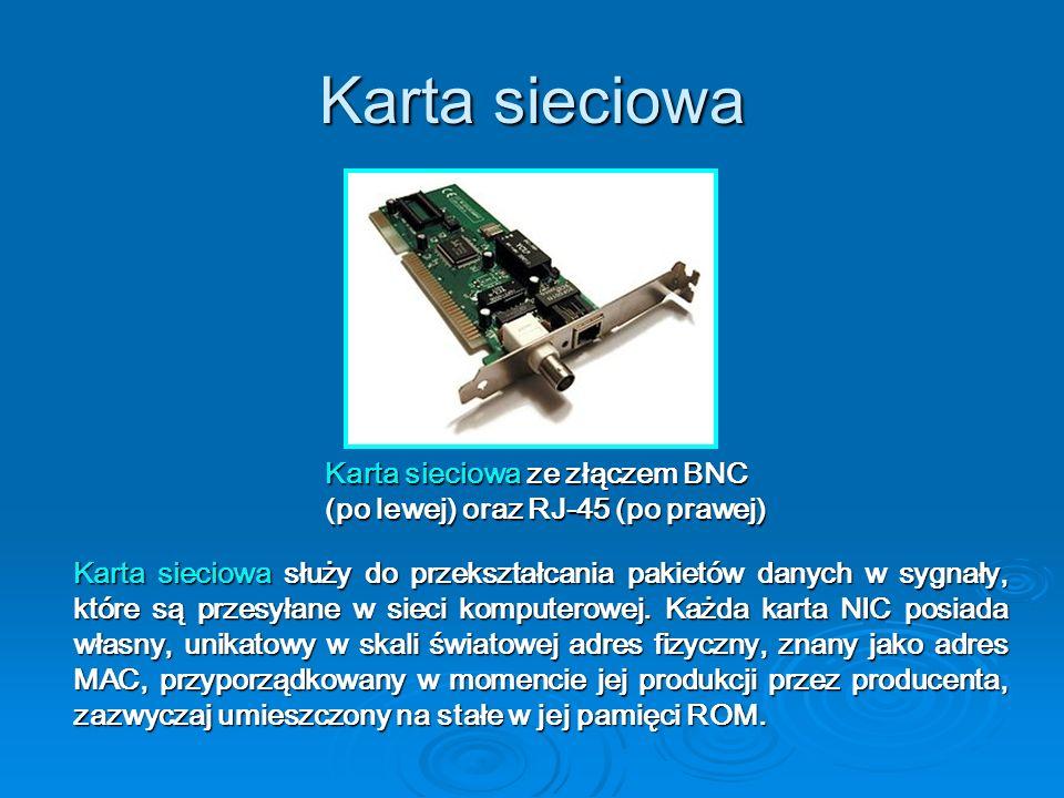 Karta sieciowa Karta sieciowa ze złączem BNC