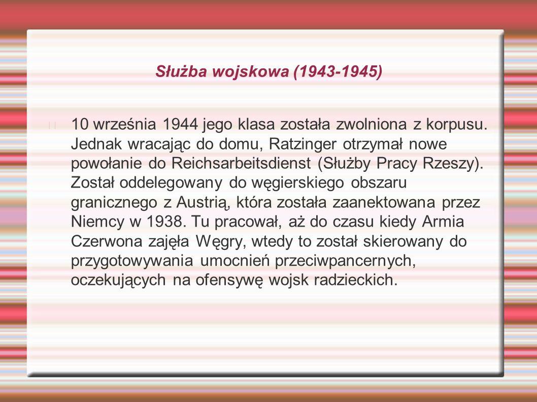 Służba wojskowa (1943-1945)
