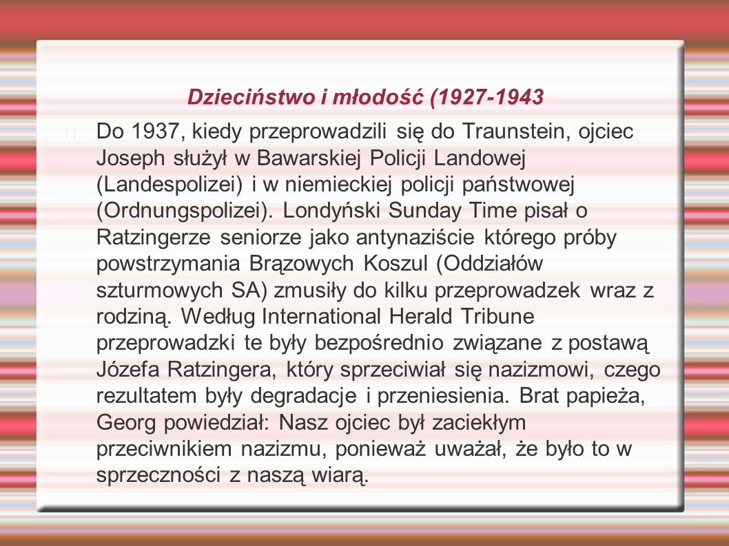 Dzieciństwo i młodość (1927-1943