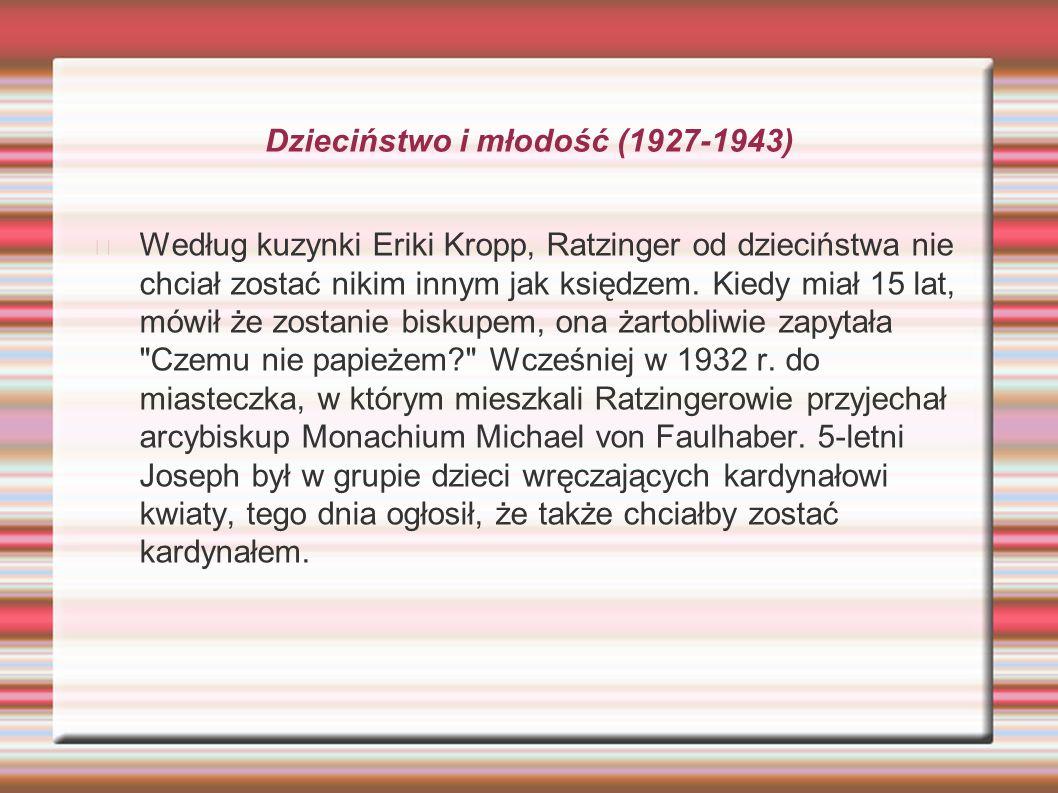 Dzieciństwo i młodość (1927-1943)
