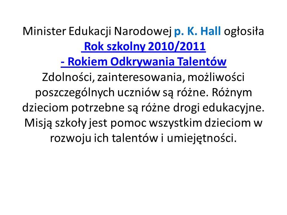 Minister Edukacji Narodowej p. K