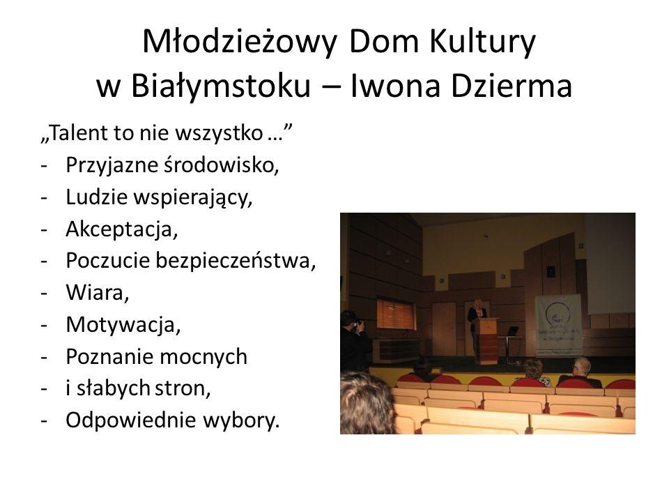 Młodzieżowy Dom Kultury w Białymstoku – Iwona Dzierma