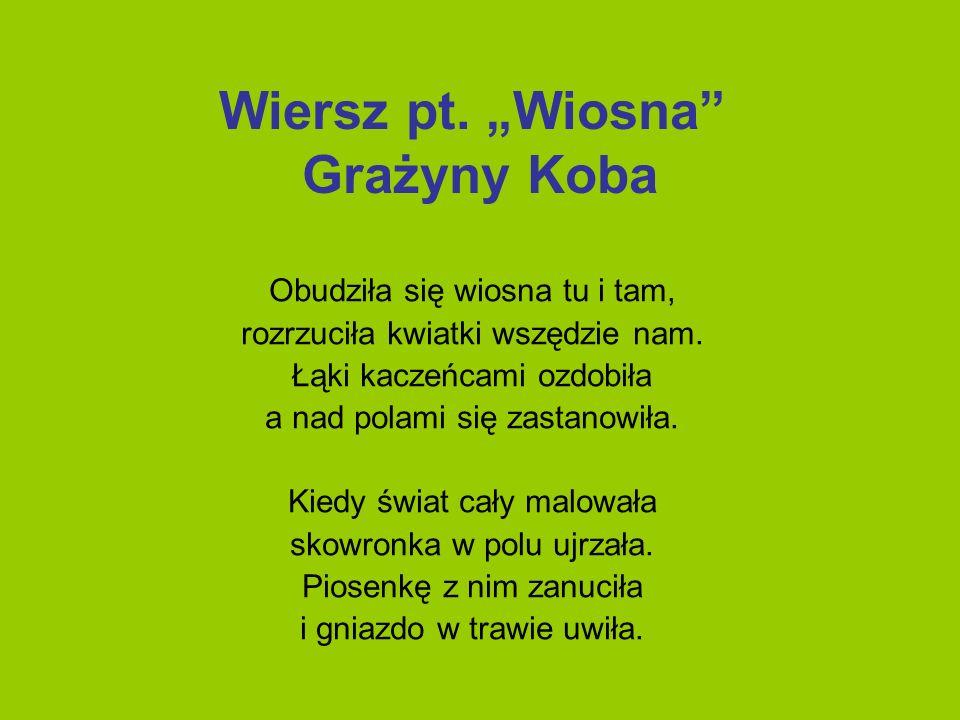 """Wiersz pt. """"Wiosna Grażyny Koba"""