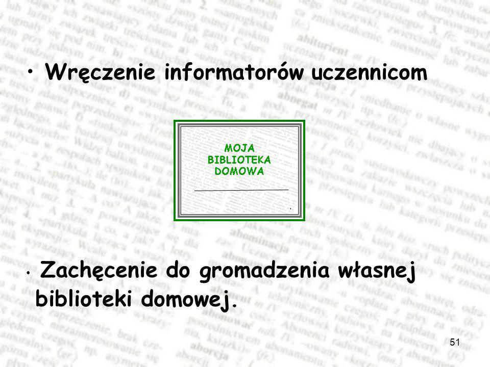 Wręczenie informatorów uczennicom