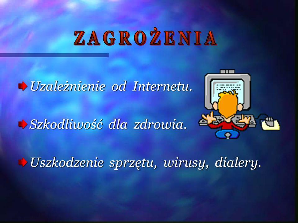 Z A G R O Ż E N I A Uzależnienie od Internetu.