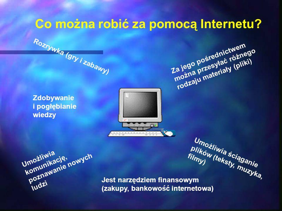 Co można robić za pomocą Internetu