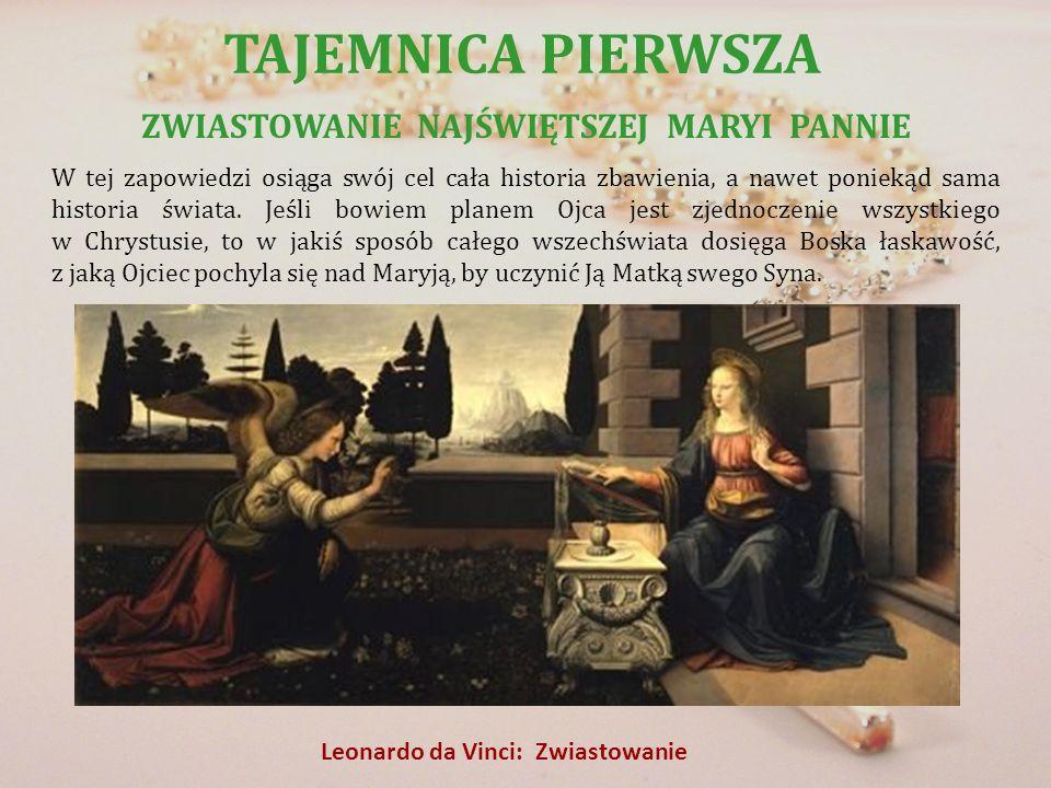 ZWIASTOWANIE NAJŚWIĘTSZEJ MARYI PANNIE Leonardo da Vinci: Zwiastowanie