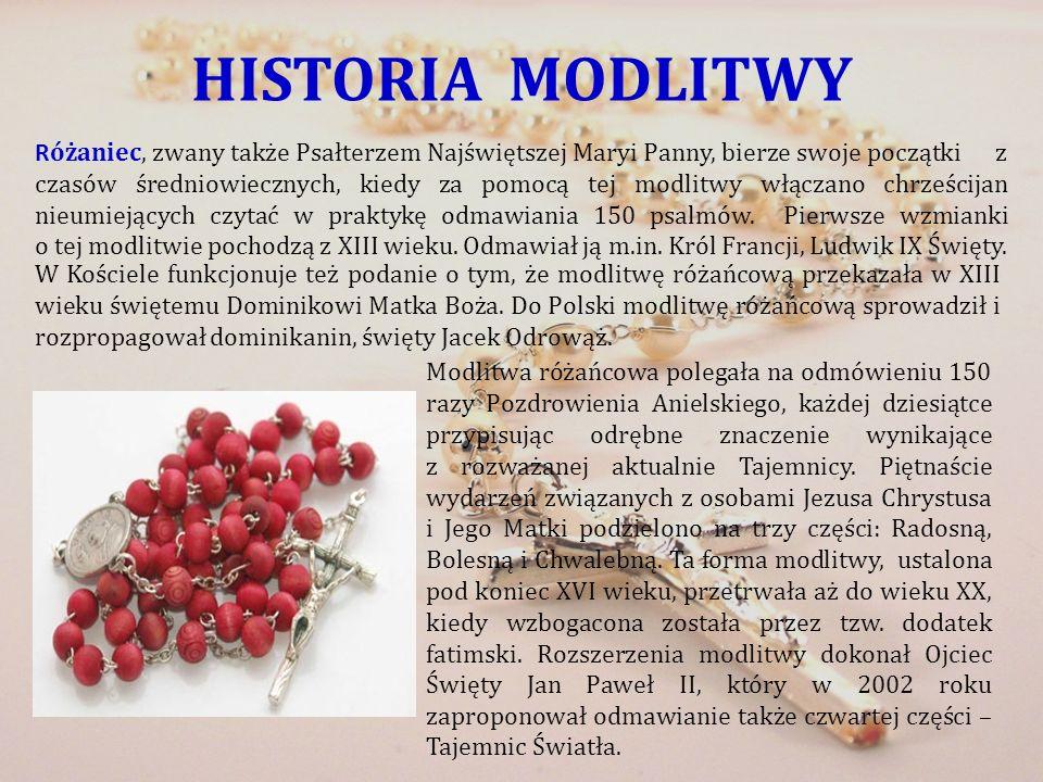 HISTORIA MODLITWY