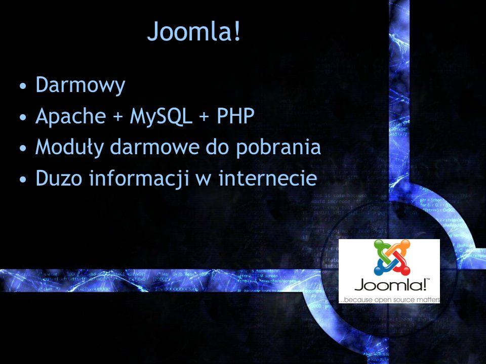 Joomla! Darmowy Apache + MySQL + PHP Moduły darmowe do pobrania