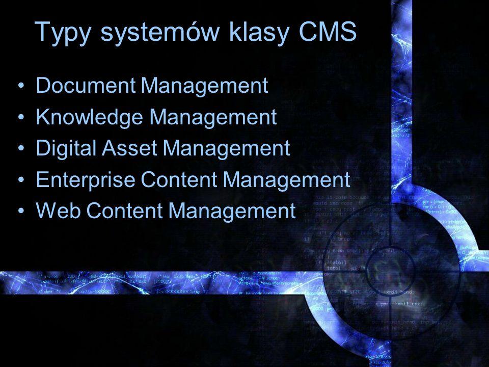Typy systemów klasy CMS