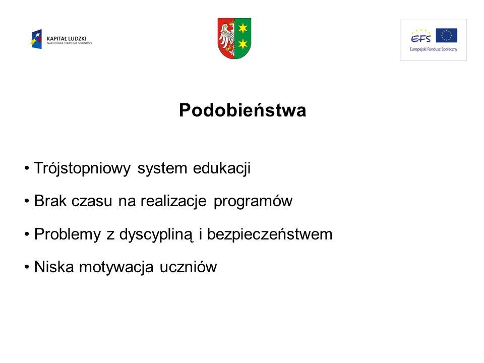 Podobieństwa Trójstopniowy system edukacji