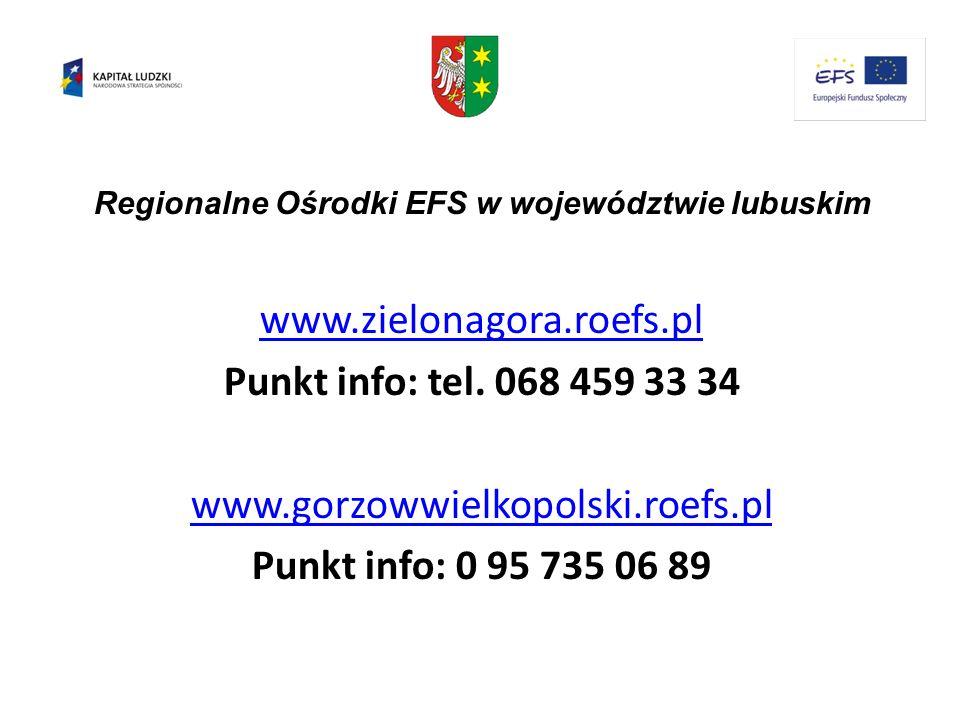 Regionalne Ośrodki EFS w województwie lubuskim