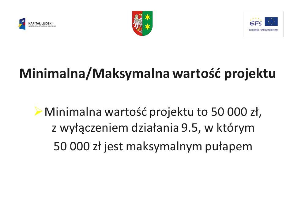 Minimalna/Maksymalna wartość projektu