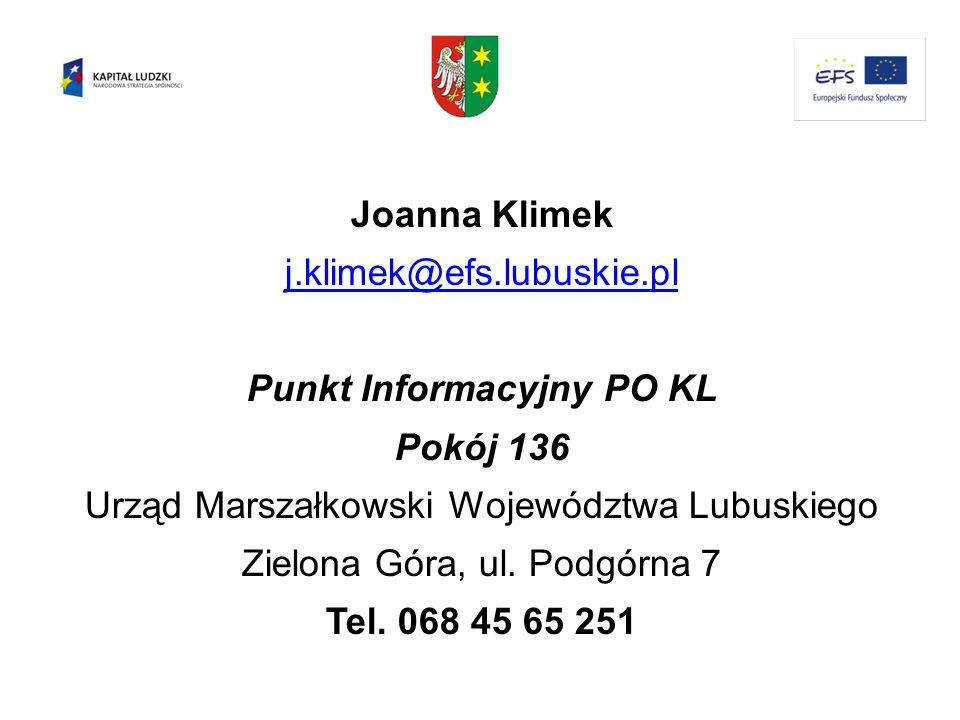 Punkt Informacyjny PO KL