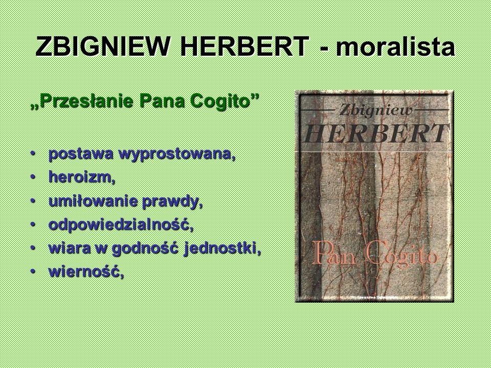 ZBIGNIEW HERBERT - moralista