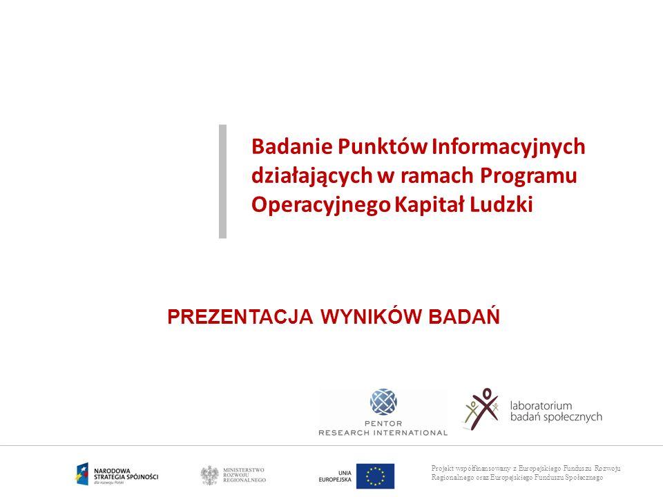 Badanie Punktów Informacyjnych działających w ramach Programu Operacyjnego Kapitał Ludzki