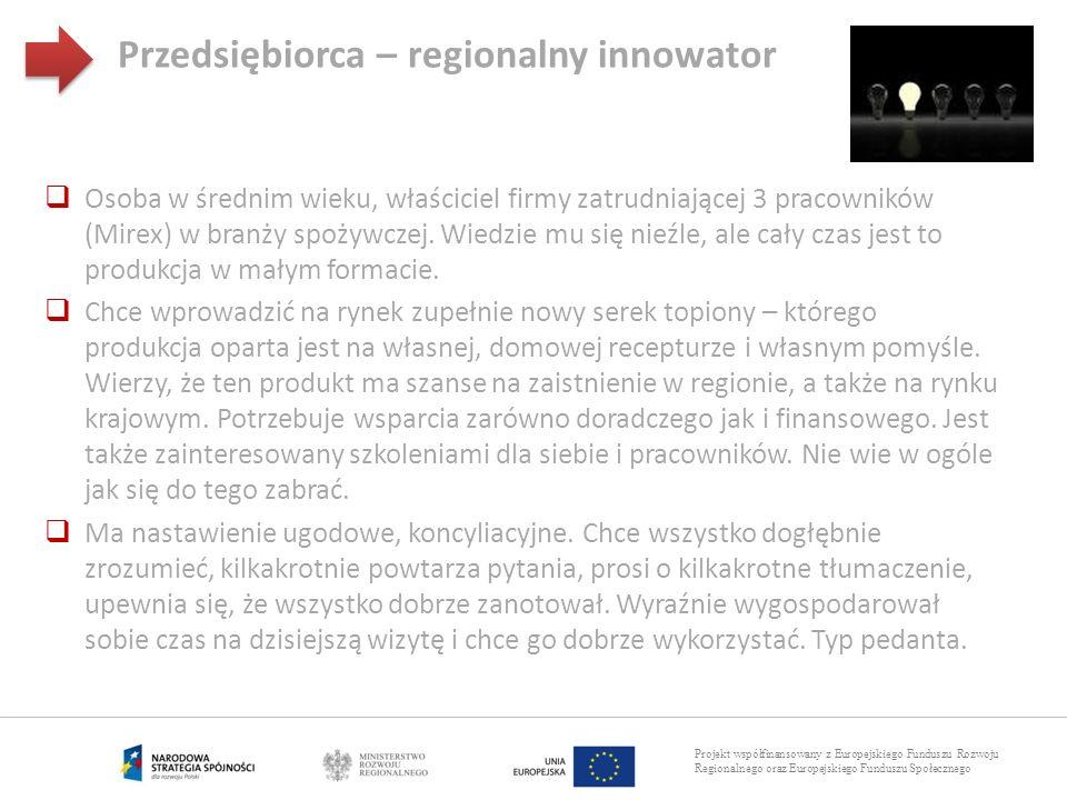 Przedsiębiorca – regionalny innowator