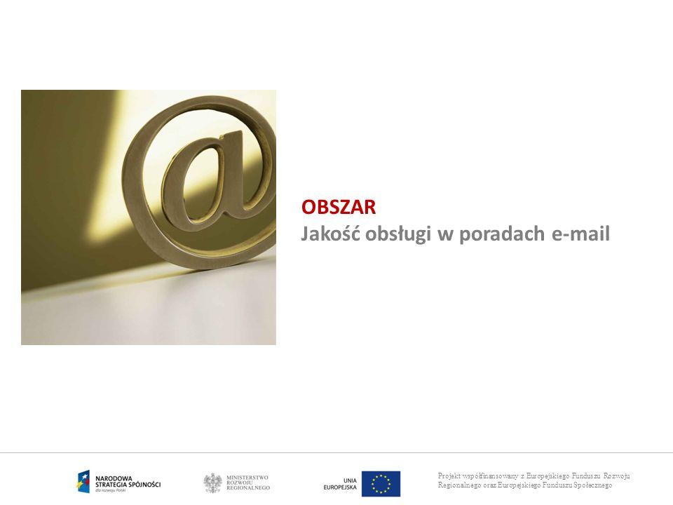 OBSZAR Jakość obsługi w poradach e-mail