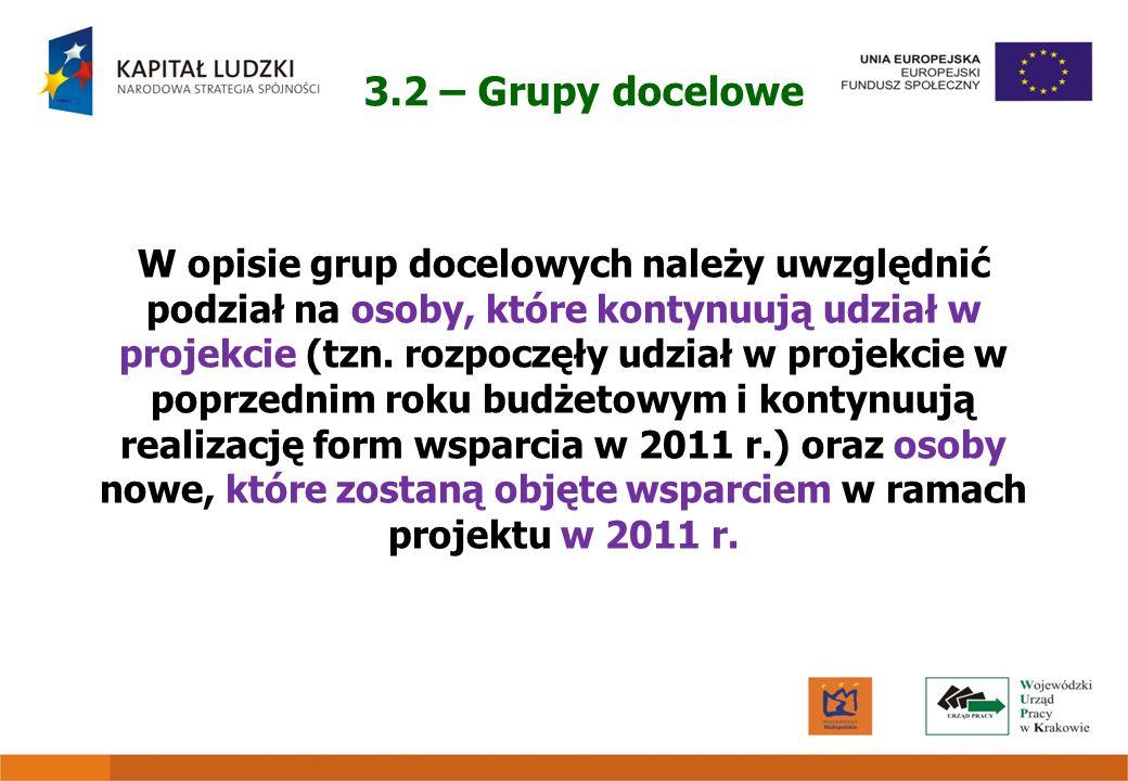 3.2 – Grupy docelowe