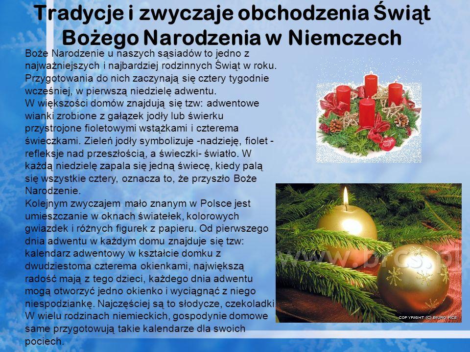 Tradycje i zwyczaje obchodzenia Świąt Bożego Narodzenia w Niemczech