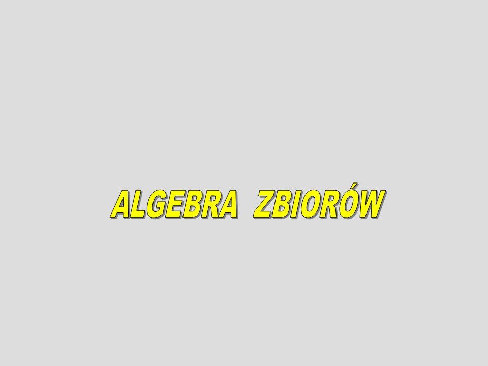 ALGEBRA ZBIORÓW