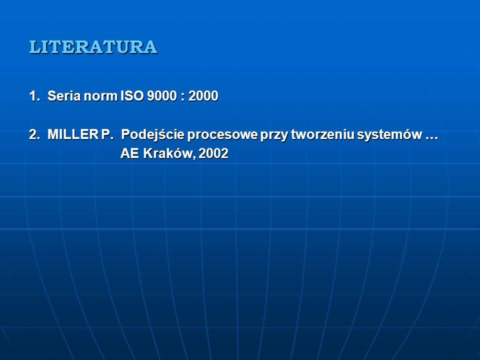 LITERATURA 1. Seria norm ISO 9000 : 2000