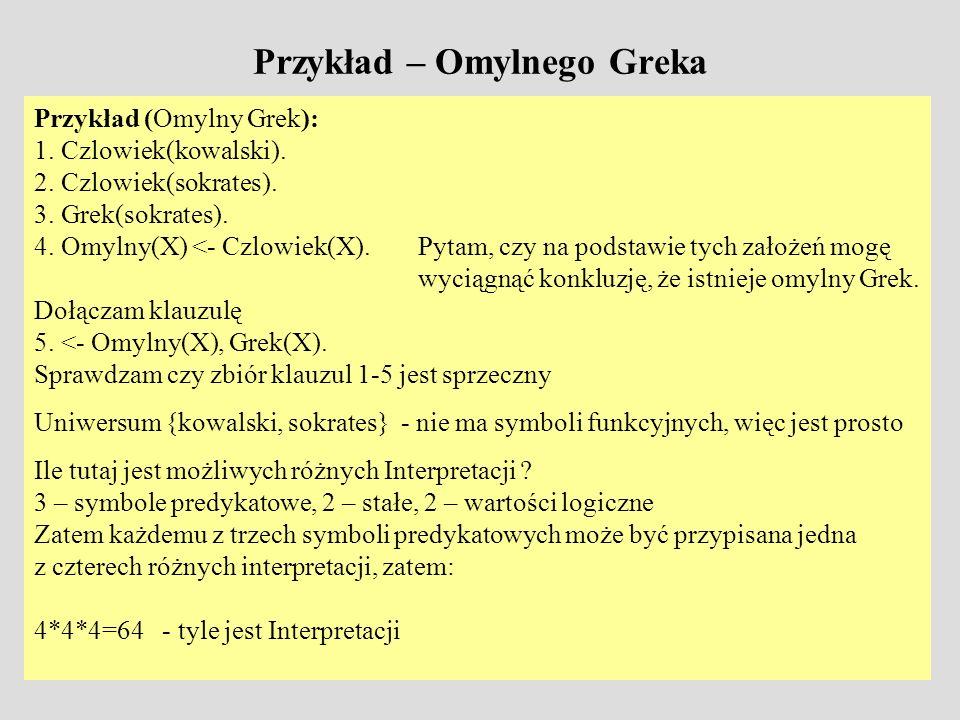 Przykład – Omylnego Greka