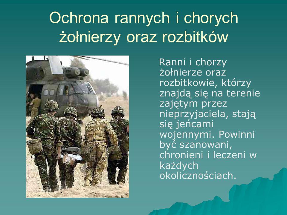 Ochrona rannych i chorych żołnierzy oraz rozbitków