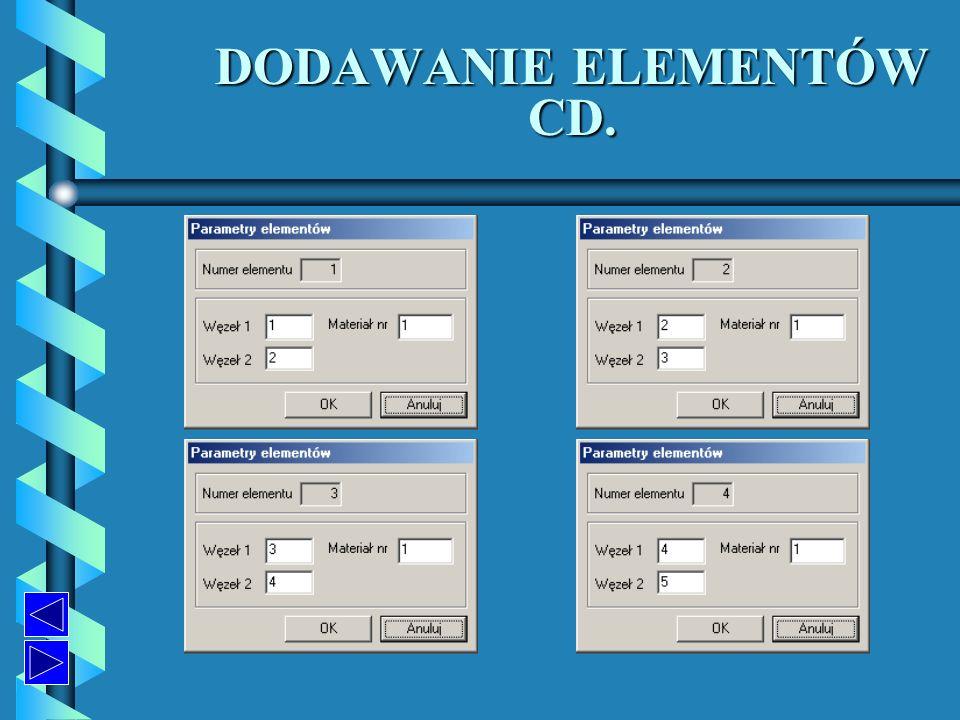 DODAWANIE ELEMENTÓW CD.