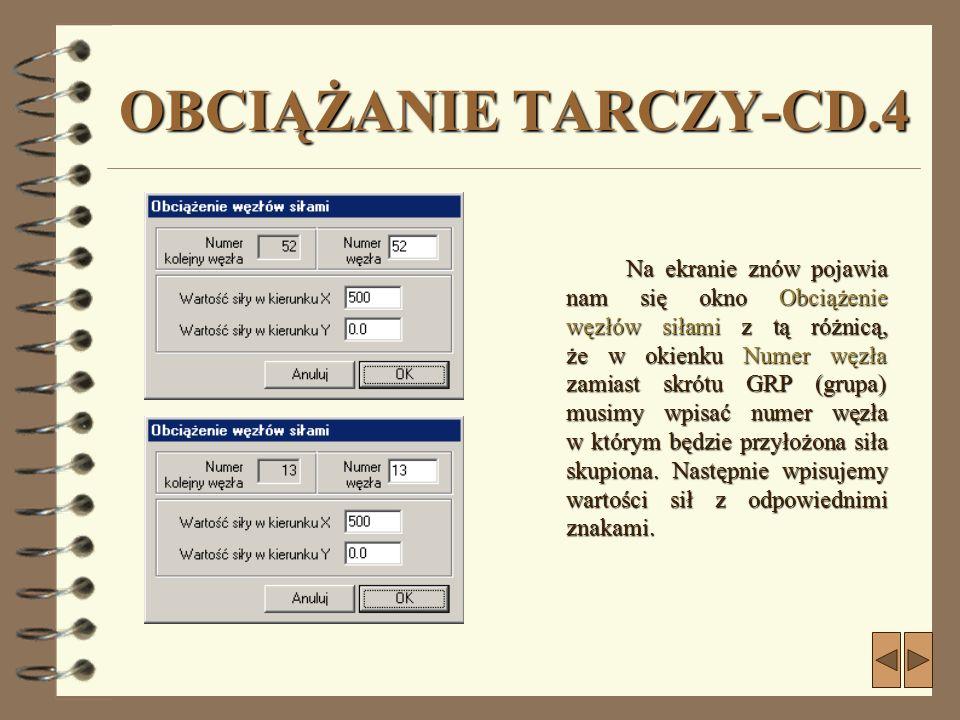 OBCIĄŻANIE TARCZY-CD.4