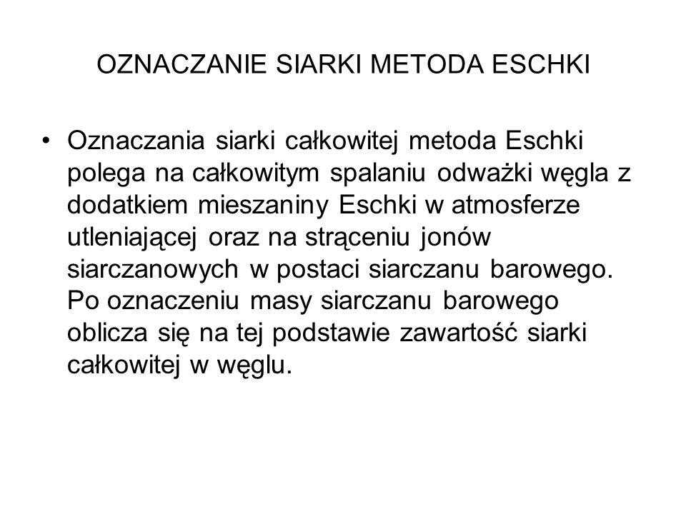 OZNACZANIE SIARKI METODA ESCHKI