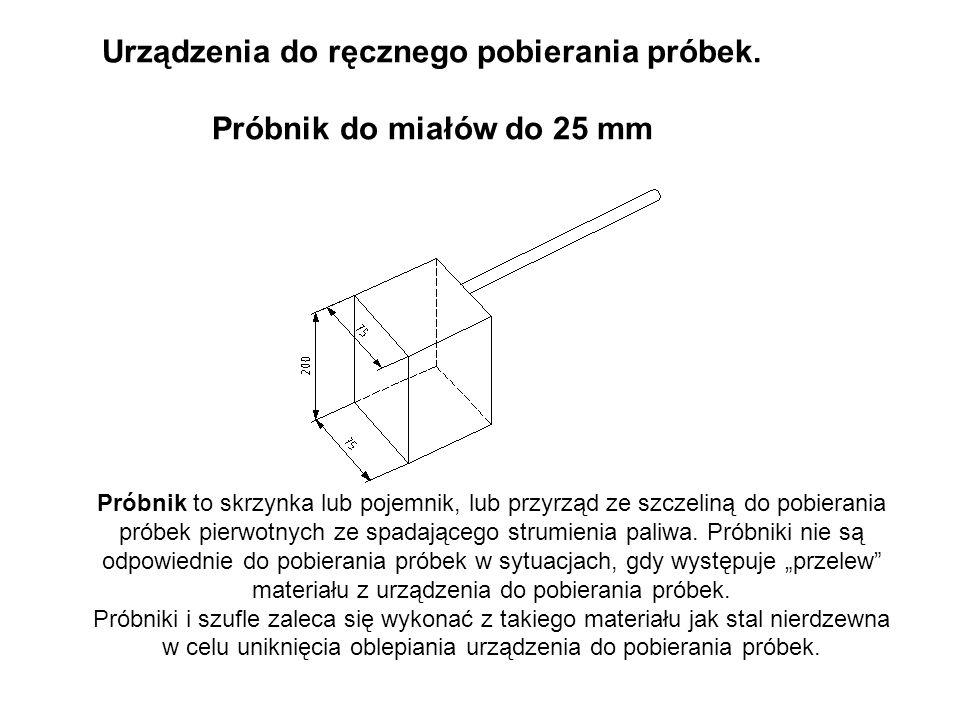 Urządzenia do ręcznego pobierania próbek. Próbnik do miałów do 25 mm