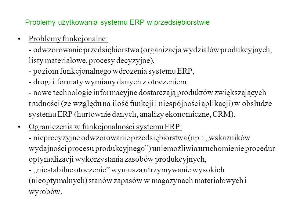 Problemy użytkowania systemu ERP w przedsiębiorstwie