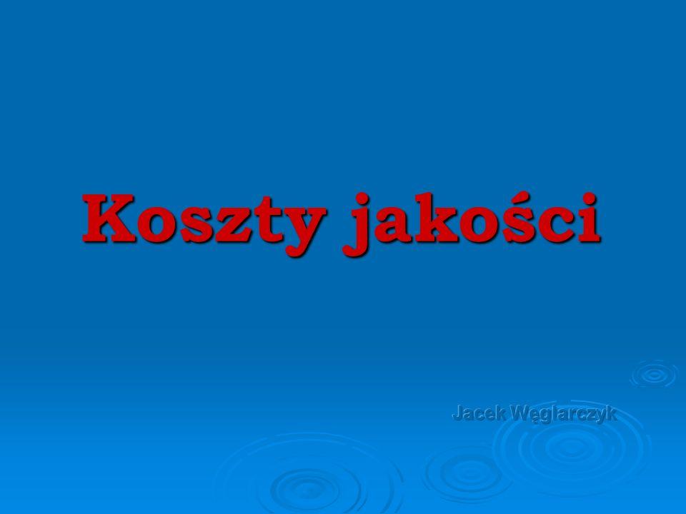 Koszty jakości Jacek Węglarczyk