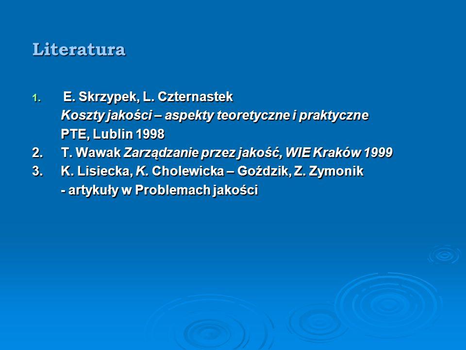 Literatura E. Skrzypek, L. Czternastek
