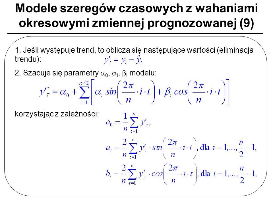 Modele szeregów czasowych z wahaniami okresowymi zmiennej prognozowanej (9)