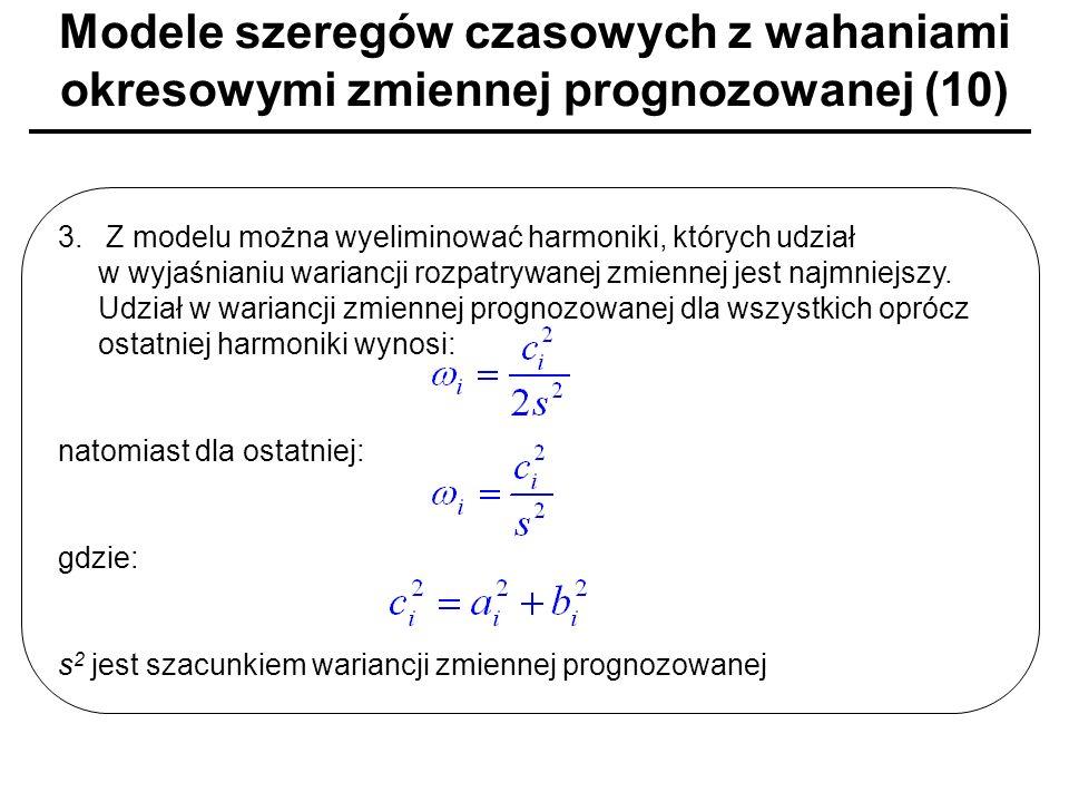 Modele szeregów czasowych z wahaniami okresowymi zmiennej prognozowanej (10)