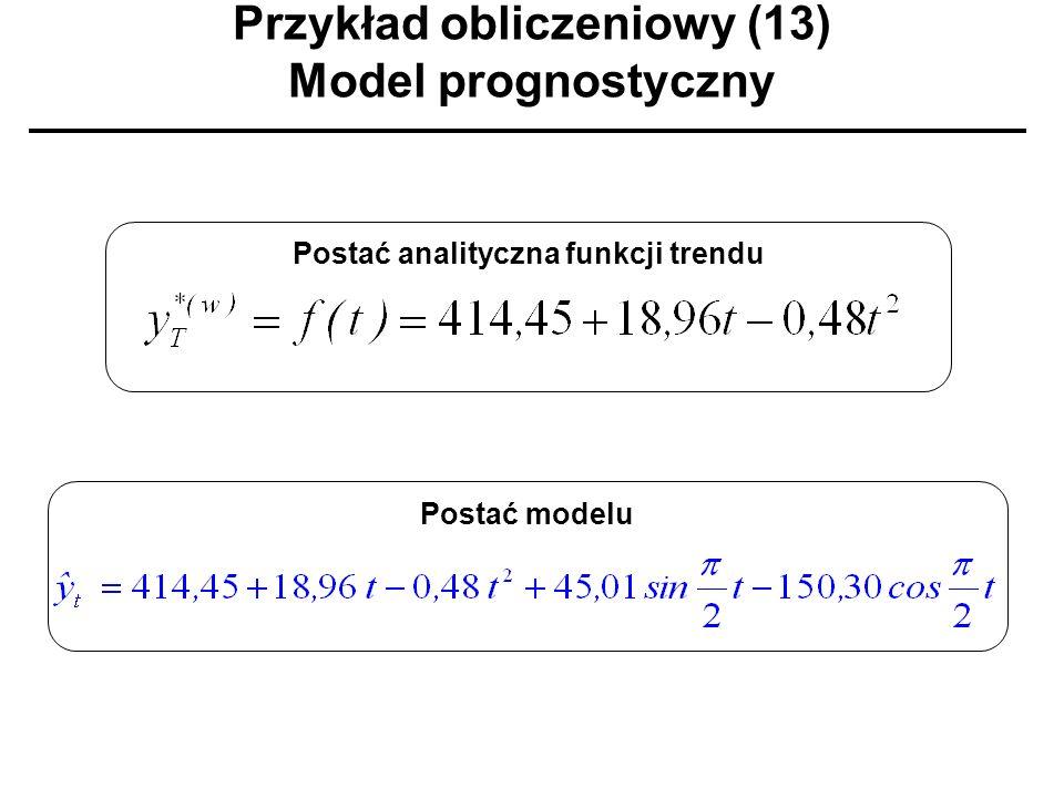 Przykład obliczeniowy (13) Model prognostyczny